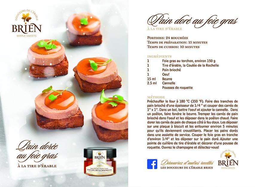 Recette Foie gras & tire à l'érable